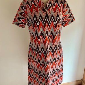 Authentic Vintage 70's Chevron A-line Dress
